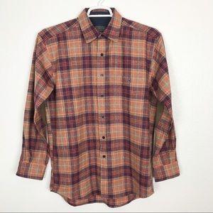 PENDLETON Trail plaid shirt w/elbow patches | med